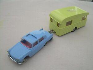NOREV N°51 PEUGEOT 404 avec caravane DIGUE jaune 1/43