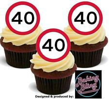 40 40th BIRTHDAY Flirty Forty 12 STANDUPS Edible Image Cake Toppers Decoration
