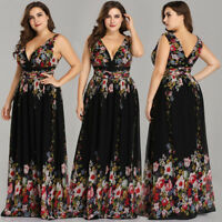 Ever Pretty Plus Size Long Chiffon Formal Floral Evening Prom Dresses Ball 09016