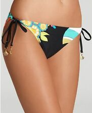 NWT $78  Trina Turk  Fuji fans  SIDE tie HIPSTER  SIZE  10   BOTTOM ONLY