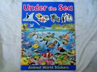 UNDER THE SEA - ANIMAL WORLD STICKERS BOOK - fish turtles penguins - BRAND NEW