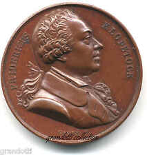 FRIDERICUS GOTTLIEB KLOPSTOCK POETA TEDESCO MEDAGLIA SERIE STORICA 1820