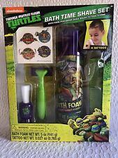 Teenage Mutant Ninja Turtles Bath Time Shave Kit Bath Foam Play Razor & More 5PC