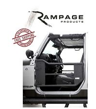 Rampage Trail Doors w/ Removable Net 07-17 Jeep Wrangler JK 2 Door 7695 Black