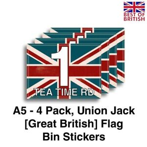 A5 [4 X Pack] - Rustic Union Jack Design, Flag of Great Britain. Personalised...