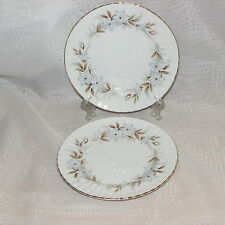 ROYAL STANDARD DAWN 2 BREAD PLATES FINE BONE CHINA DINNERWARE ENGLAND BLUE FLOWE