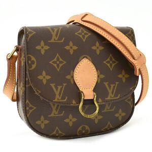 Auth LOUIS VUITTON Monogram Mini Saint Cloud PM M51244 Crossbody Shoulder Bag