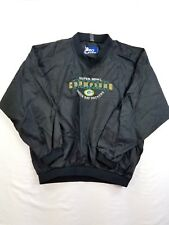 Pro Player NFL Green Bay Packers Men Pull over Nylon Jacket waterproof sz L/XL