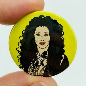 1980s Style Cher 38mm Button Pin Badge