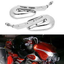 Motorcycle Edge Cut Rearview Mirrors Chrome For Harley HD Cruiser Touring Custom