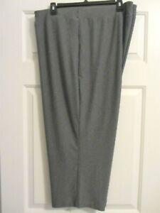 Terra & Sky Size 5X Grey Super Soft Capri Pants or Pajama Bottoms