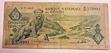 50 Frank Kongo / Congo 50 Francs 1962 Belgique Belgïe 1-7-62