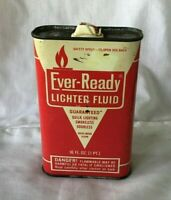 *Vintage EMPTY 16 oz Tin Can EVER READY LIGHTER FLUID ** EMPTY**