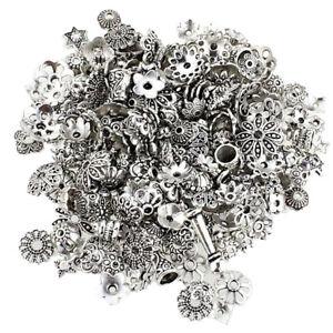 Assorted Bulk Flower Bead Caps End Jewelry Making Tibetan Silver Crafting