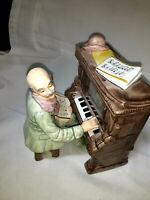 "VINTAGE TOYO Porcelain MAN AT PIANO  Music Box plays ""No Place Like Home"" Japan"