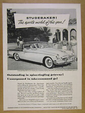 1955 Studebaker SPEEDSTER Commander Regal V8 car photo vintage print Ad