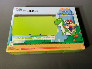 Nintendo 3DS XL Lime Green Super Mario World New Open Box