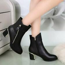 Fashion Women's Winter Ankle Boots High Heels Boots Autumn Winter Boots Shoes JJ