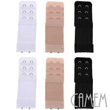 prolunga per reggiseno 2 ganci spalle elasticizzata 32 - 38 mm bianco nero beige