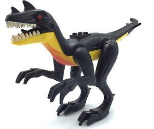 LEGO RAPTOR DINOSUAR FIGURE JURASSIC WORLD DINO AUTHENTIC ANIMAL EVIL RED EYES