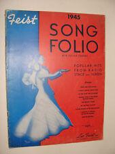 Feist Song Folio 1945 Jor Harris art cover Trolley Song Rum & Coca Cola +