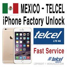 Telcel Mexico Unlock Service iPhone X 8 8+ 7 7+ 6S+ 6S 6 6+ Plus SE 5S 5C 5 4S 4