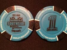 "Harley Golf Ball Marker Poker Chip (BIKER Blue) ""Indianapolis Southside"" Indiana"