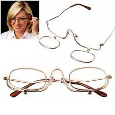 Magnifying Makeup Glasses Eye Spectacles Flip Down Lens Folding Cosmetic Readers