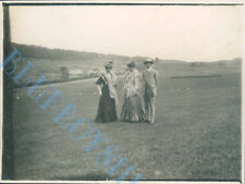 3 well dressed  people Caldy On The Wirral Edwardian Photo 4 x 3 inch