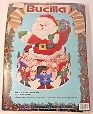 Bucilla Santa & Elves Candy Dish Needlecraft Kit 61139