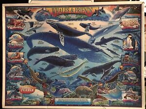 """White Mountain Puzzles 1000 Piece """"Whales & Friends"""" 2000"""