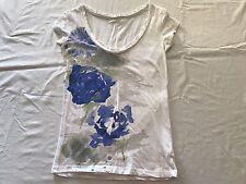 AEROPOSTALE M/M T-SHIRT SPLASH OF BLUE WITH DECORATIVE COLLAR.