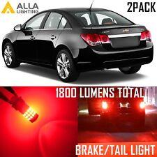 Alla Lighting LED Brake/Stop Tail Lights T20 Pure Red Bulb Lamp for Chevrolet