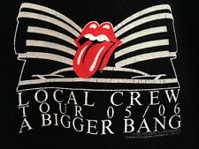 ☀️Rolling Stones CREW ONLY Roadie Concert Tour T-Shirt A BIGGER BANG Lips ~  XL