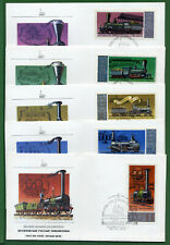 Russia 5 First Day Covers , Sc 4657 - 4551 , Historic Locomotives, 1978