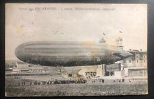 1912 Fischamend Austria RPPC Postcard Cover Parseval Military Balloon