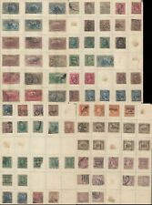 USA stamp 1910s 4 pages of used stamp, stuck on paper