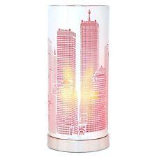 Lampe Touch new york Rose  cylindrique Métal Tactile 3 Intensités Déco Design
