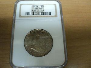 1954 NGC MS65 Franklin Half Dollar