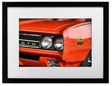 1969 Pontiac GTO The Judge Photo Art Print 13x19 Muscle Car Here Come 455 V8