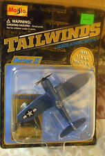 1999 Maisto Tailwinds WWII USMC Vought F4U-1D Corsair with Blue White Checkerboa