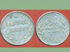 BELGIQUE  2 francs 1944     WW 2  TTB   ( 1 )