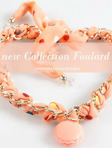 "Collana/Foulard MACARONS ""ORANGE"" Donna - MCSFL01-C"