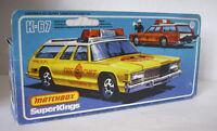 Repro Box Matchbox SuperKings K-67 Dodge Monaco Fire Chief