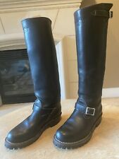 """Men's WESCO 18"""" TALL Boss Black Engineer Riding Boots 9.5D. THE CLASSIC. WOOF!"""
