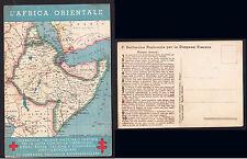 CARTOLINA MILITARE AFRICA CAMPAGNA  ANTITUBERCOLARE - CARTINA AFRICA ORIENTALE