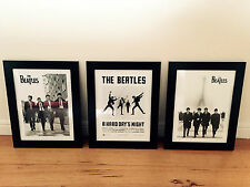 3 x The Beatles Concert Poster A hard days night Vintage Framed Poster Prints