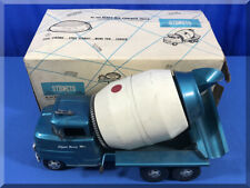 1962 STRUCTO STEEL #604 READY MIX CONCRETE TRUCK STEEL BARREL DRUM SPINS BOXED