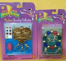 Power Rangers Collectible Jewelry 1995 Charm Necklace & Charm Bracelet NIB