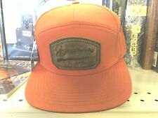 Leather Patch Burnt Orange  Weatherby Trucker  Hat   New!!!! -  Worldwide ship
